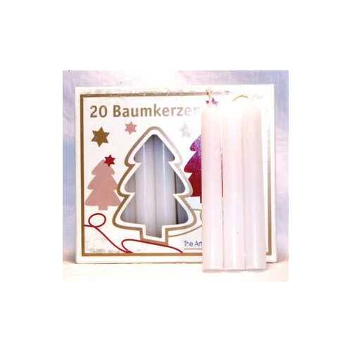 "1/2"" White Chime Candle 20 pack"