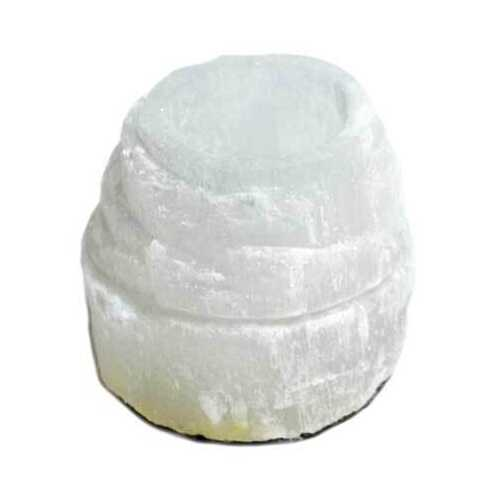 "2 1/2"" Selenite Iceberg tealight holder"
