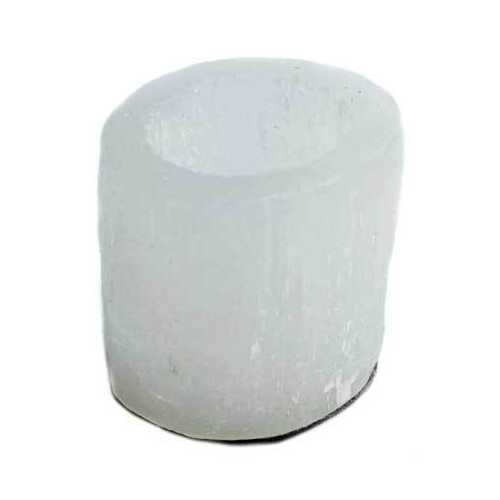 "2 1/2"" Selenite Round tealight holder"