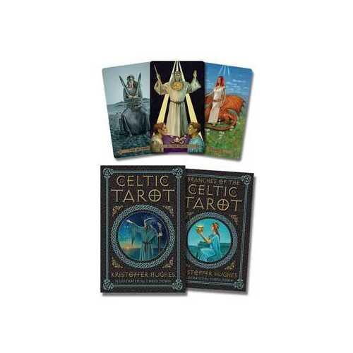 Celtic tarot deck & book by Hughes & Down