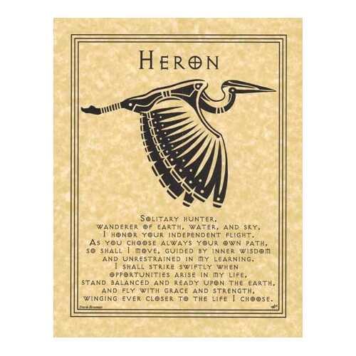 Heron Prayer poster