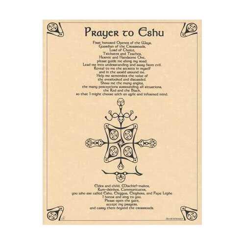 Prayer to Eshu poster