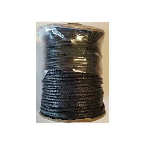 Black Cotton Cord 2mm 1 yd
