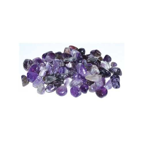1 lb Amethyst tumbled chips 7-9mm