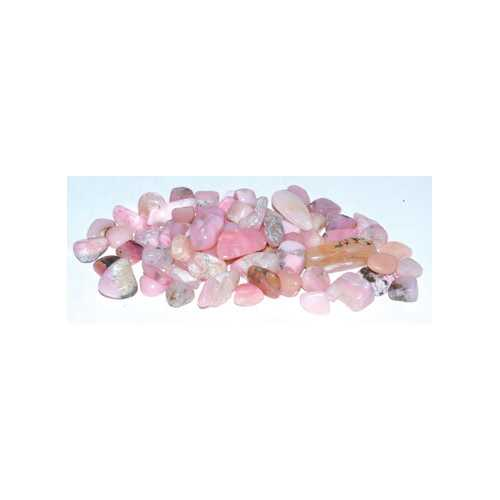 1 lb Opal, Pink tumbled chips 7-9mm