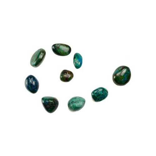 1 lb Chrysocolla tumbled stones