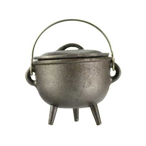 Plain cast iron cauldron 4""