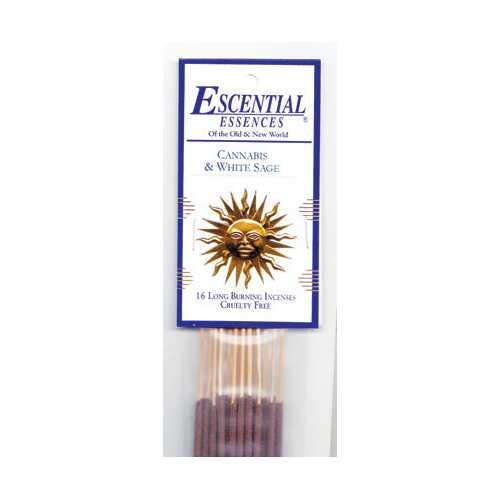 Cannabis & White Sage escential essences incense sticks 16 pack