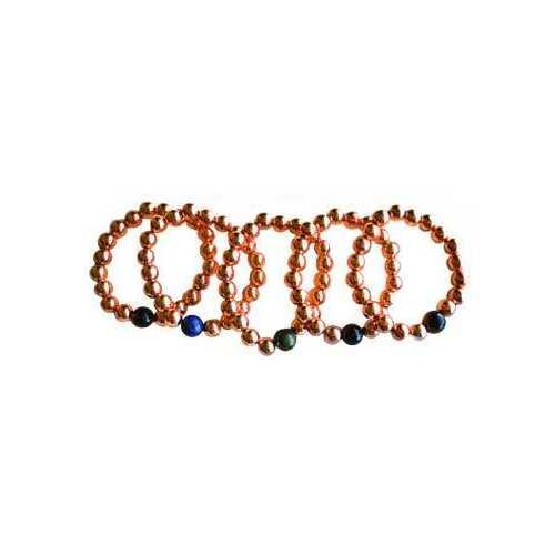 10mm Copper with asst stone bracelet