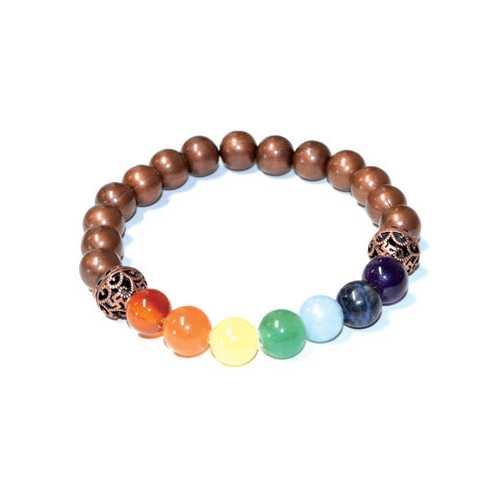 8mm 7 Chakra Copper beads