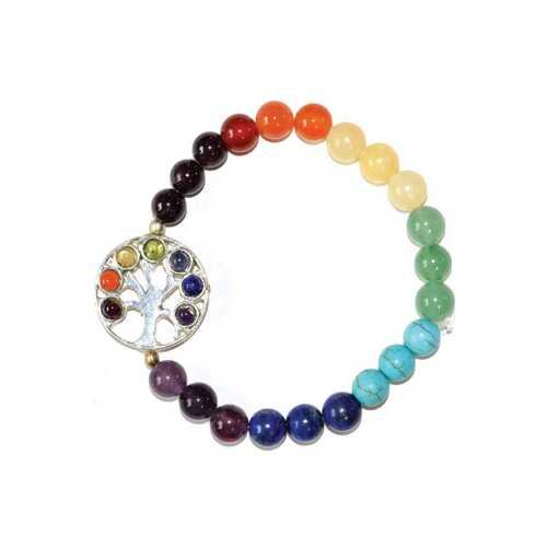 8mm 7 Chakra Tree of Life