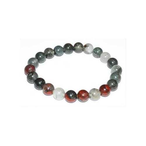 8mm Bloodstone (Seftonite) bracelet
