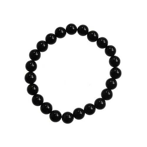 8mm Black Onyx (natural agate dyed) bracelet