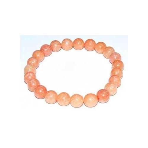 8mm Calcite, Peach bracelet