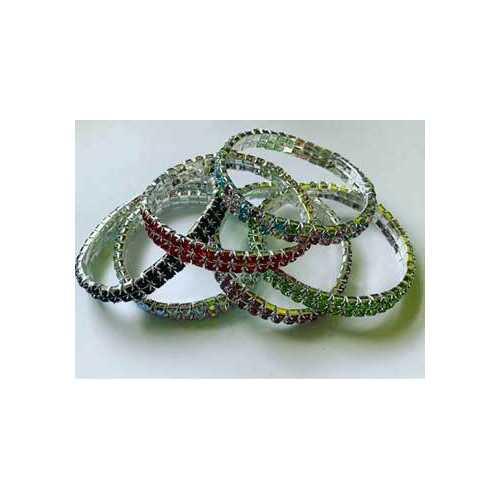 2 Line Crystal stretch bracelet various
