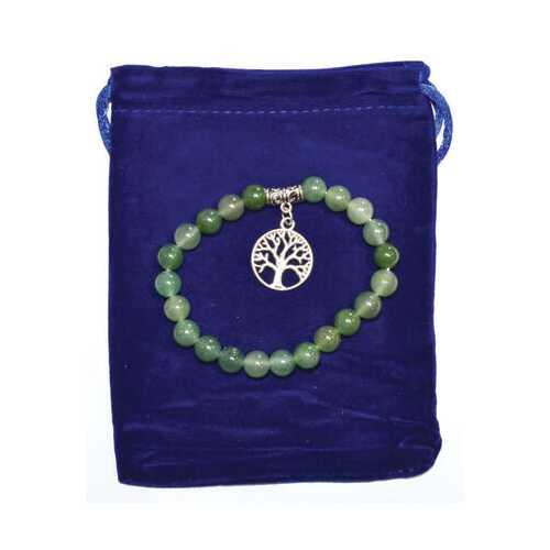 8mm Green Aventurine & Tree of Life bracelet