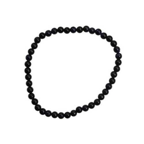 4mm Blue Goldstone stretch bracelet