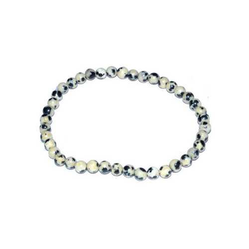 4mm Dalmation stretch bracelet