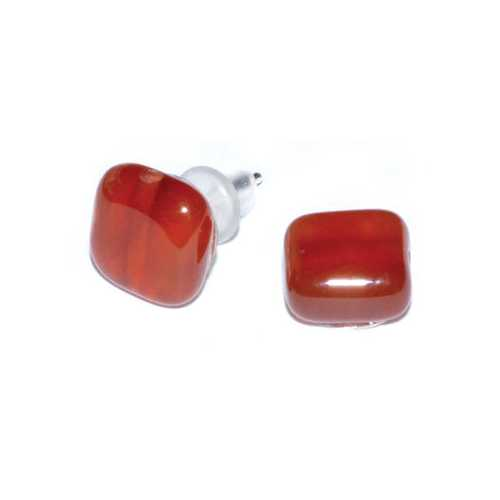 Carnelian stud earrings