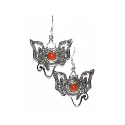 Ganesha carnelian earrings