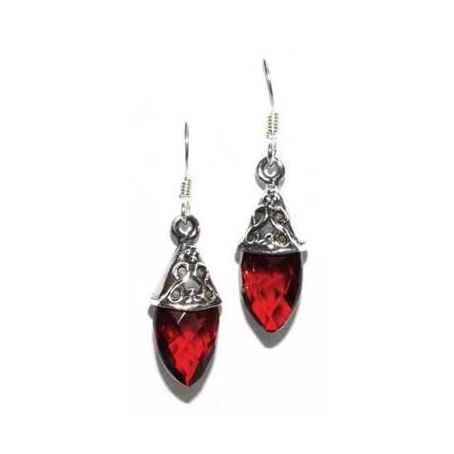 Teardrop garnet earrings