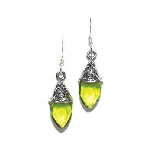 Teardrop peridot earrings