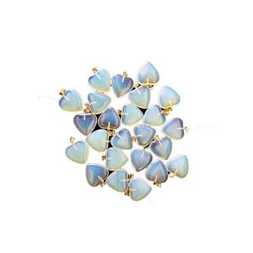 """3/4"""" (20mm) Opalite heart (pack of 24)"""