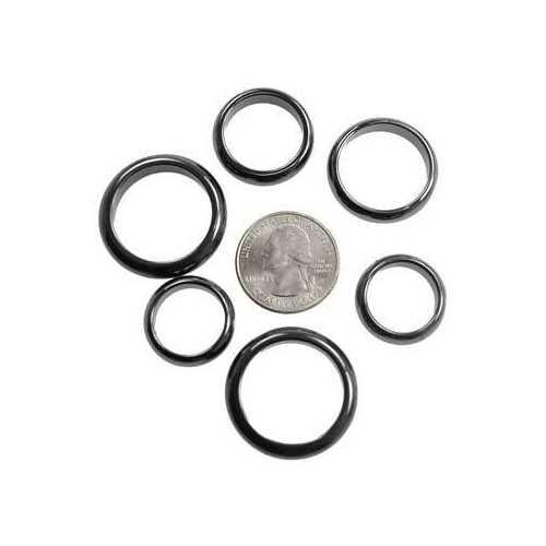 6mm Rounded Magnetic Hematite rings (50/bag)