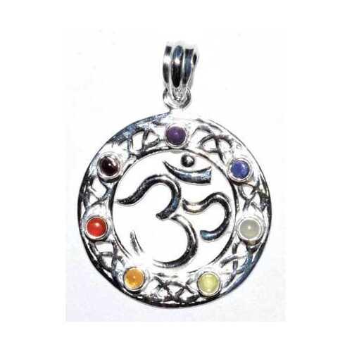 7 Chakra Om pendant