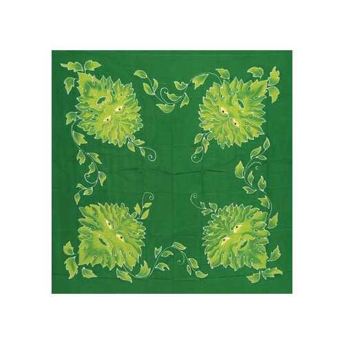 """Green Man  altar cloth or scarve 36"""" x 36"""""""