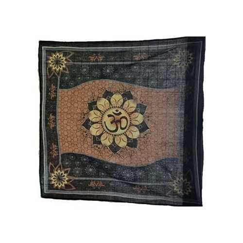 "36"" x 36"" Om Lotus altar cloth"