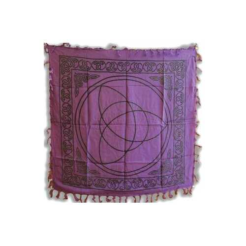 "Purple Triquetra altar cloth 36"" x 36"""