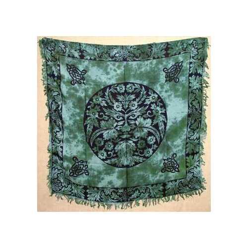 """Greenman altar cloth 36"""" x 36"""""""