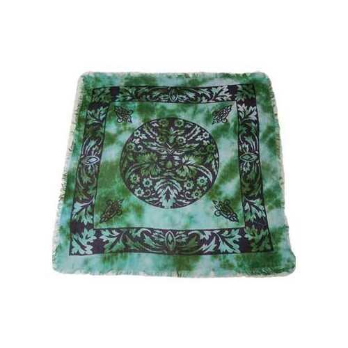 """18""""x18"""" Green Man altar cloth"""