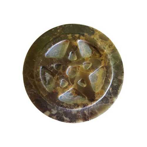 """Soapstone Pentagram altar tile 3"""""""
