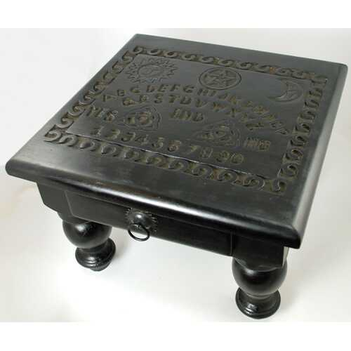 """Spirit Board altar table with Drawer 12"""" x 12"""" x 9"""""""