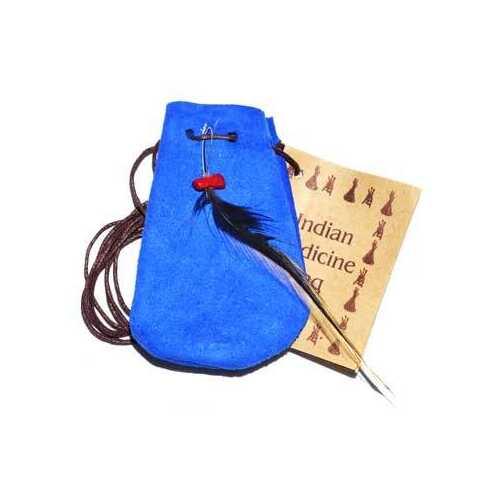 """3"""" Medicine Dream bag Blue"""