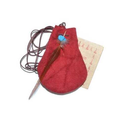"3"" Medicine Dream bag Red"