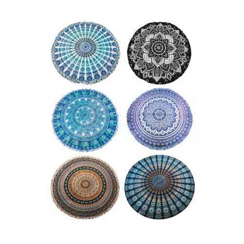 "60"" dia Assorted Mandada Design tapestry (mixed colors)"