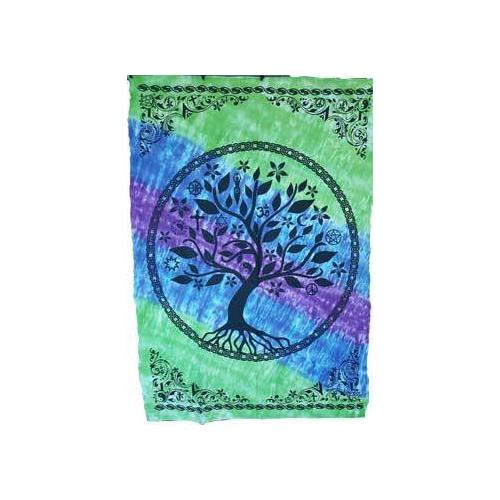 """58"""" x 82"""" Tree of Life tapestry (mixed colors)"""