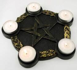 Pentagram Candle Holder altar plate