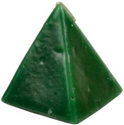 Green Cherry pyramid candle 2 1/2""