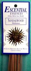 Sandalwood escential essences incense sticks 16 pack