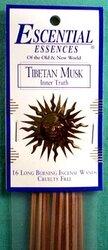 Tibetan Musk escential essences incense sticks 16 pack