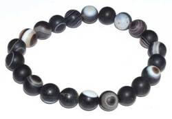 8mm Agate, Banded bracelet