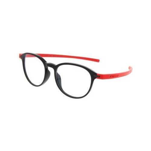 TAG Heuer 3953 Reflex 3 Round Prescription Rx Eyeglasses Frames - Red / Black