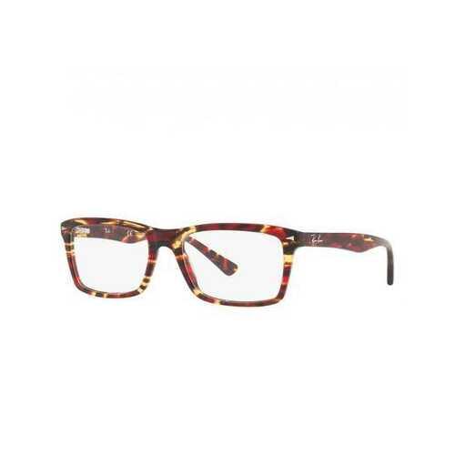 Ray-Ban RB5287-5710 Red Tortoise Rectangular Unisex Acetate Eyeglasses