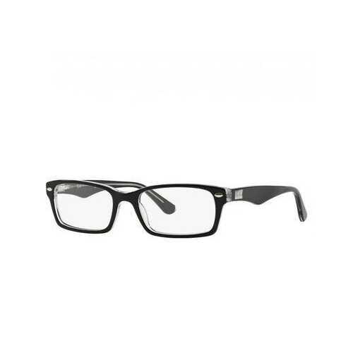 Ray-Ban RB5206-2034 Black Rectangular Unisex Acetate Eyeglasses