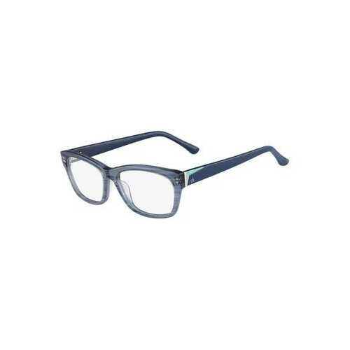 Calvin Klein CK-5835-280 Azure Silk Square Women's Plastic Eyeglasses