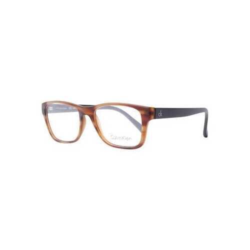Calvin Klein CK-5957-201 Marble Brown Rectangular Plastic Eyeglasses